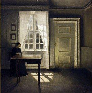 Avant Hopper: Vilhelm Hammerstoi dans peinture hammershoi-294x300