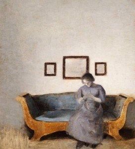 ida-hammershoi-sitting-on-a-sofa-272x300 dans peinture
